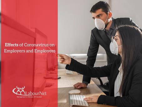 Effects of Coronavirus on Employers and Employees