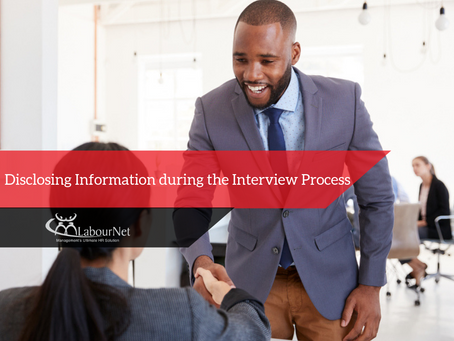 Disclosing information during the interview process