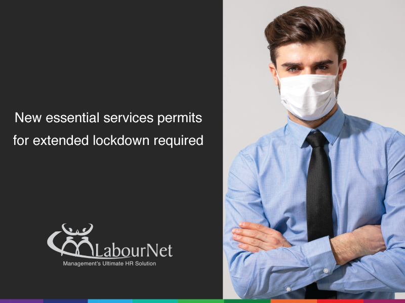 New essential services permits for extended lockdown