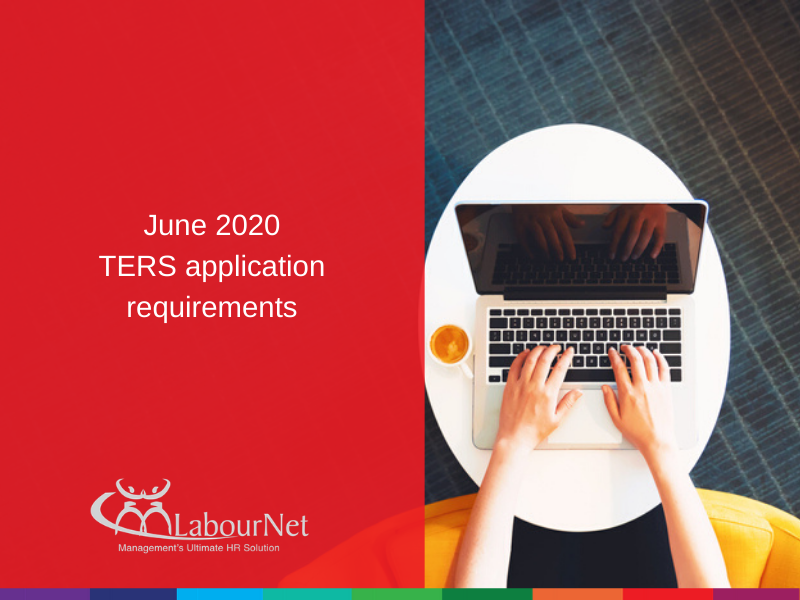 June 2020 TERS application requirements