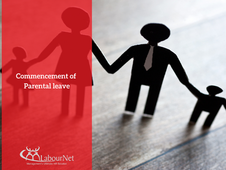 Correction: Commencement of Parental Leave