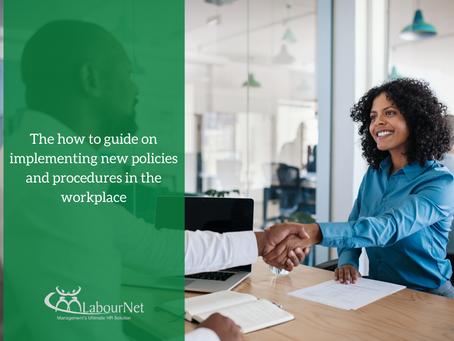 Guide on implementing new policies & procedures in the workplace