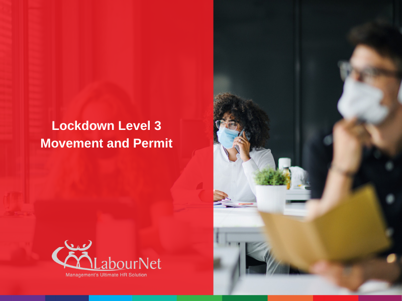 Lockdown Level 3 Movement and Permit