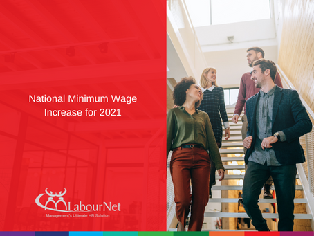 National Minimum Wage Increase for 2021