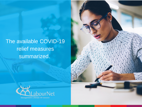 The available COVID-19 relief measures summarized.