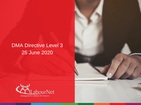 DMA Directive Level 3 - 25 June 2020