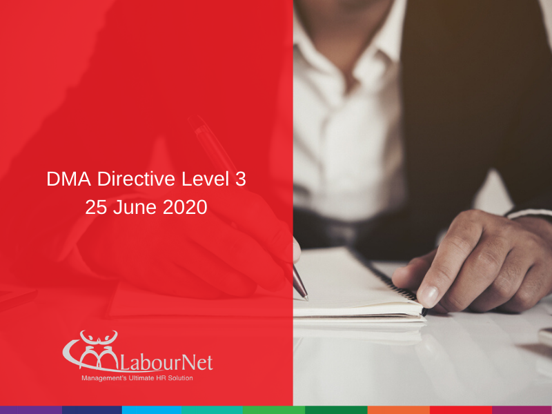 DMA Directive Level 3 - 25 June 2020