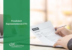 Fraudulent Representation on CV's