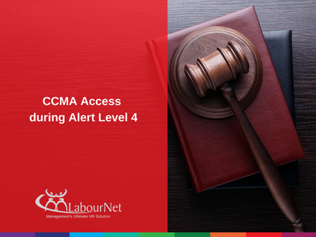 CCMA Access during Alert Level 4