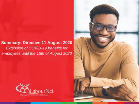 Summary: Directive 11 August 2020