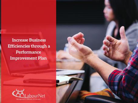 Increasing Business Efficiencies through Performance Improvement