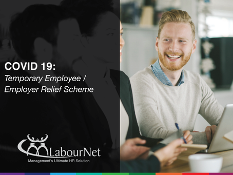 COVID-19: Temporary Employee / Employer Relief Scheme
