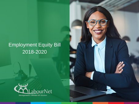 Employment Equity Amendment Bill 2018 - 2020