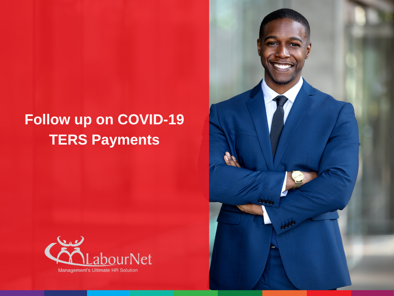 Follow up on COVID-19 TERS Payments