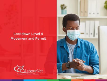 Lockdown Level 4 Movement and Permit