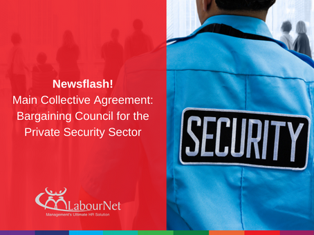 Main Collective Agreement: Bargaining Council for the Private Security Sector