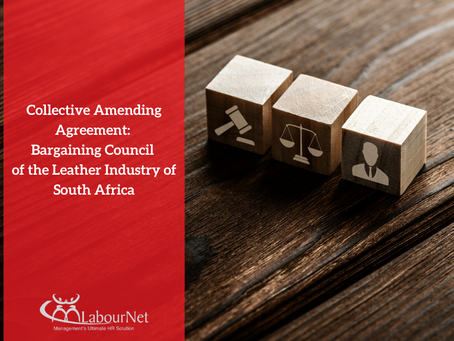 Collective Amending Agreement: Bargaining Council of the Leather Industry of South Africa
