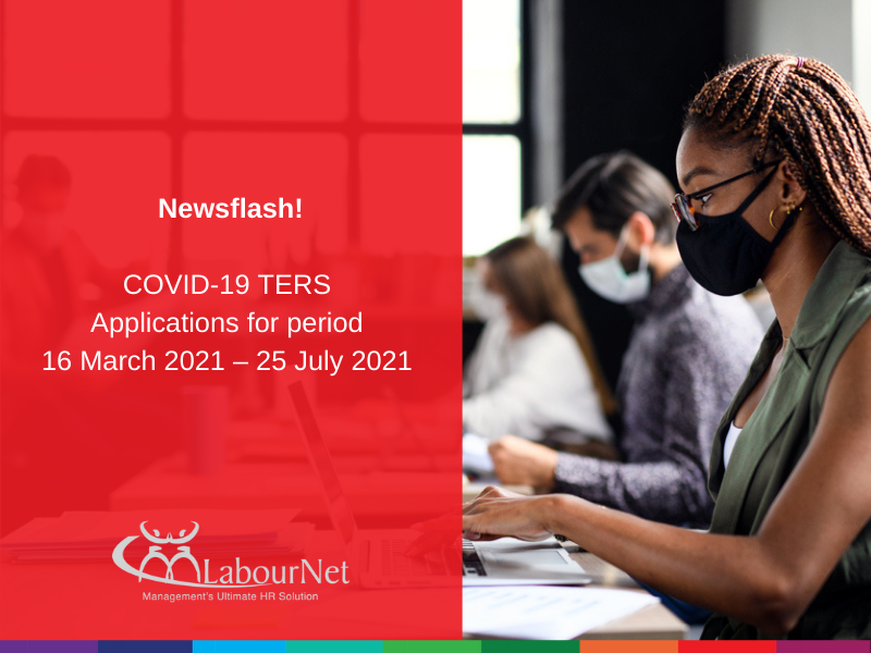 COVID-19 TERS Applications for period 16 March 2021 – 25 July 2021