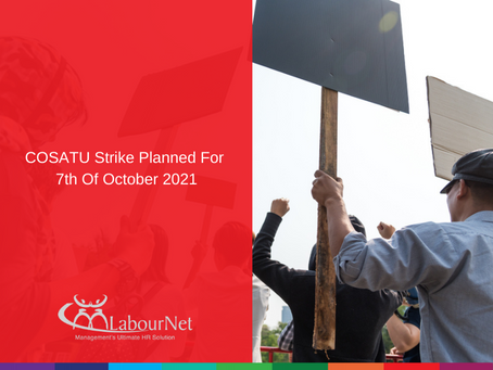 COSATU Strike Planned for 7th Of October 2021