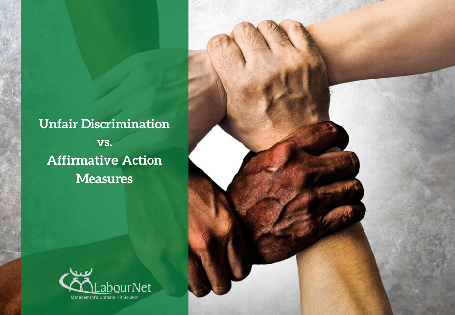 Unfair Discrimination vs Affirmative Action Measures