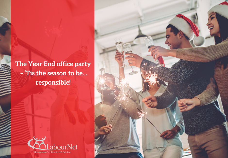 The Year End office party – 'Tis the season to be…responsible!