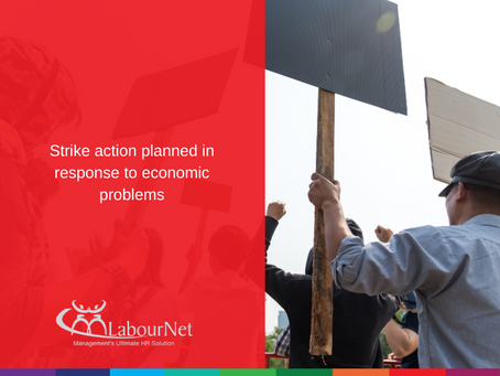 Strike action planned in response to economic problems