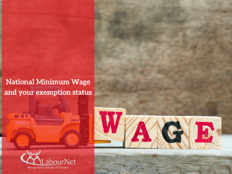 National Minimum Wage and your exemption status