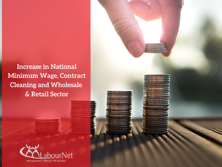 Increase in National Minimum Wage, Contract Cleaning and Wholesale & Retail Sector