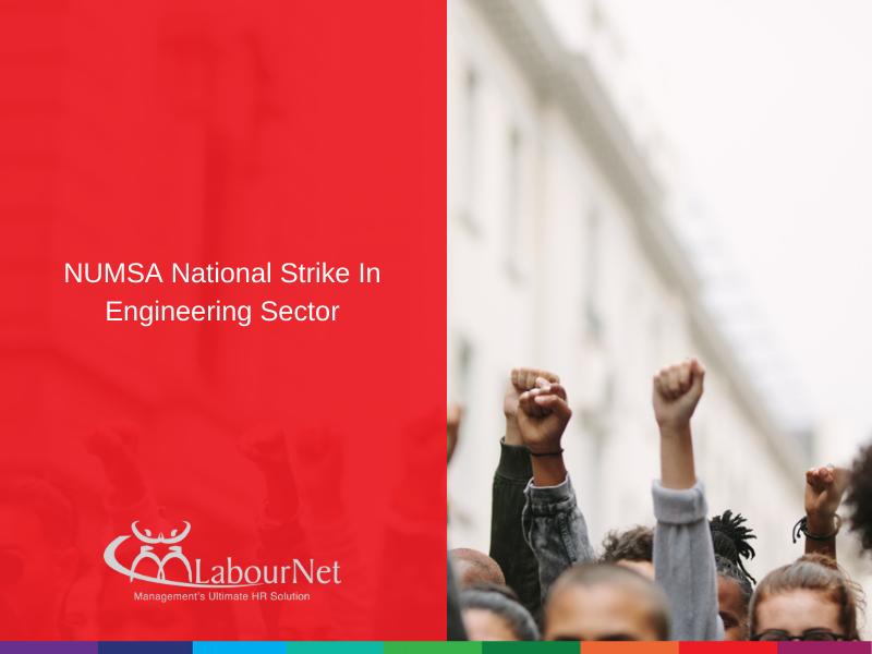 NUMSA National Strike In Engineering Sector