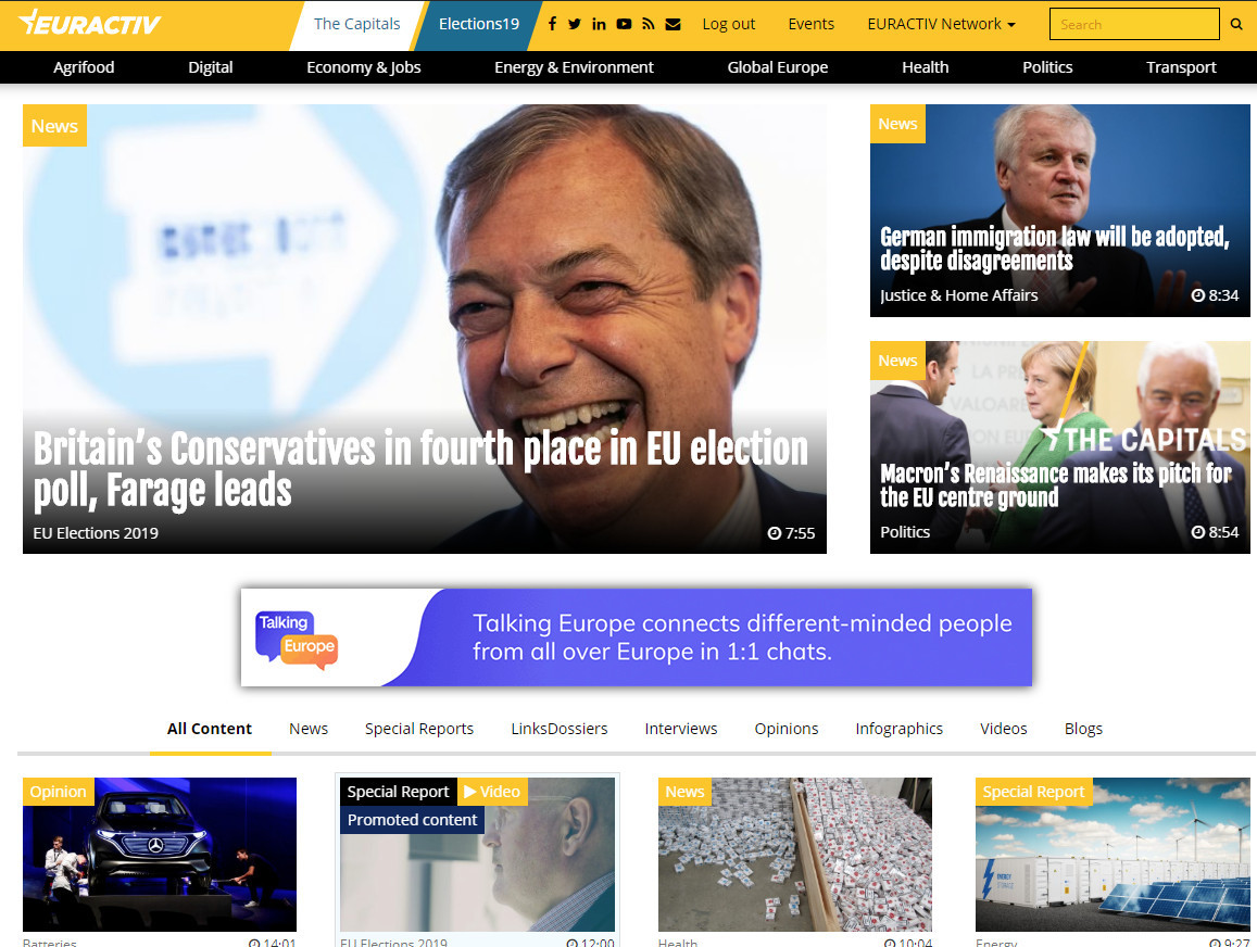 EurActiv Cooperation for European Electi