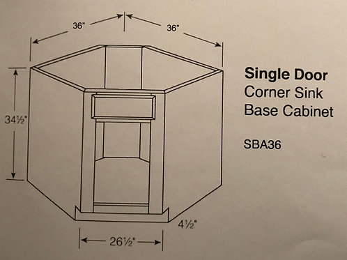Single Door Corner Sinks Base Cabinet