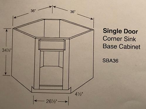 Single Door Corner Sinks Base Cabinet