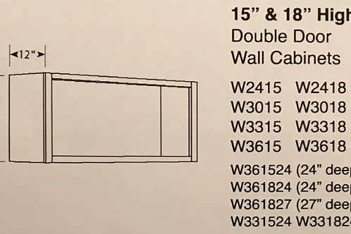 "15"" High Double Door Wall Cabinets"