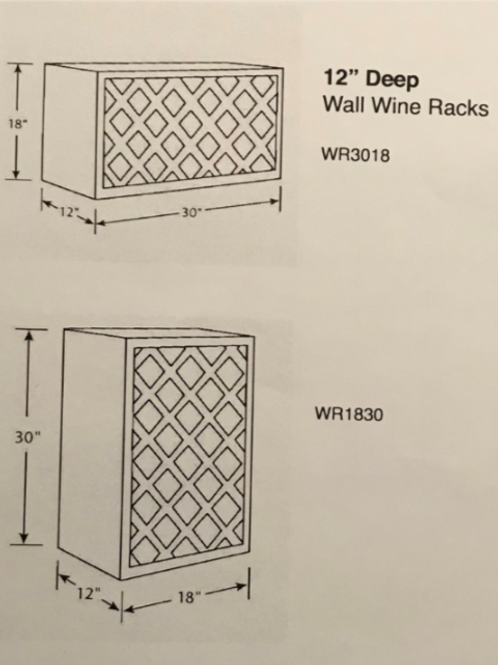 "12"" Deep Wall Wine Racks"