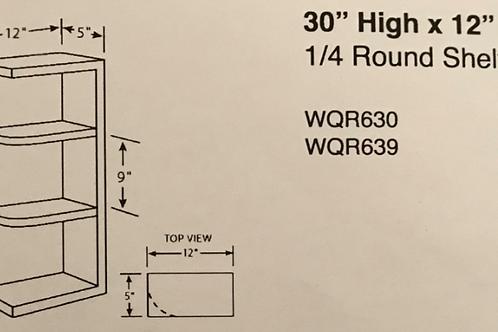 """30"""" High x 12"""" Deep 1/4 Round Shelves"""