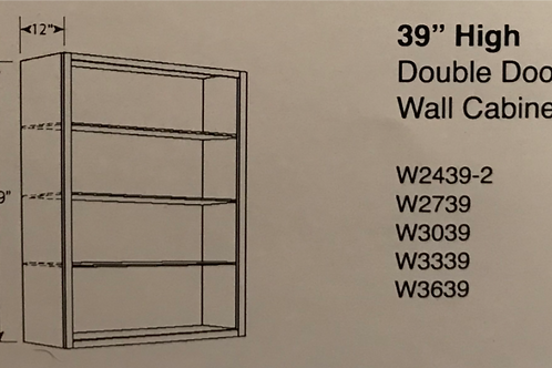 "39"" High Double Door Wall Cabinets"