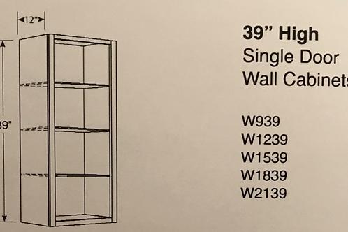 """39"""" High Single Door Wall Cabinets"""