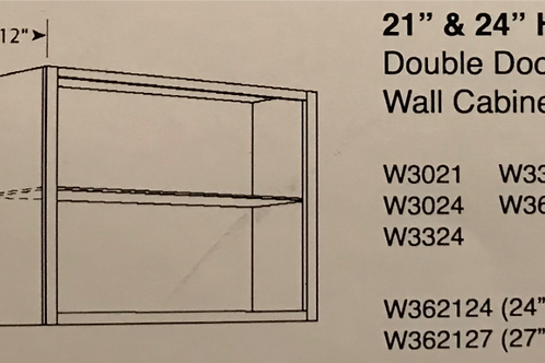 "24"" High Double Door Wall Cabinets"