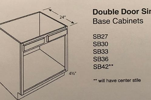 Double Door Sink Base