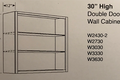 "30"" High Double Door Wall Cabinets"