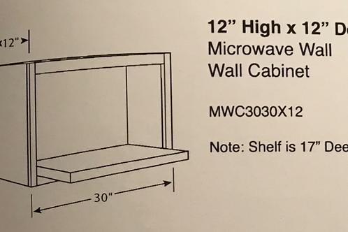 """12"""" High x 12"""" Deep Microwave Wall Cabinet"""
