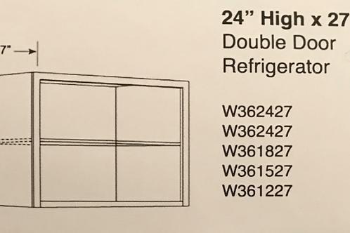"24"" x 27"" Deep Double Door Wall Cabinets"