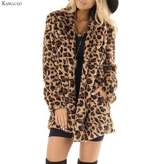 Women Leopard Faux Fur jacket