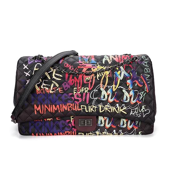 Black Graffiti Bag Shoulder Bag