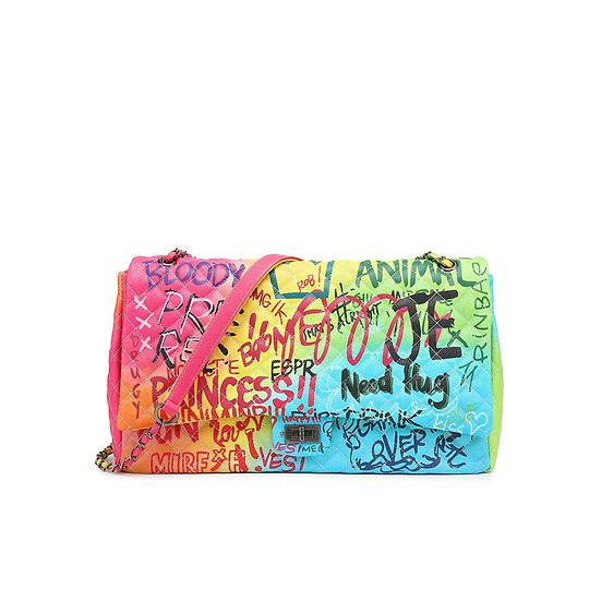 Graffiti Printed Shoulder Big Bag