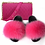 Thumbnail: Fox Fur Slides with Matching Colorful Jelly Bag