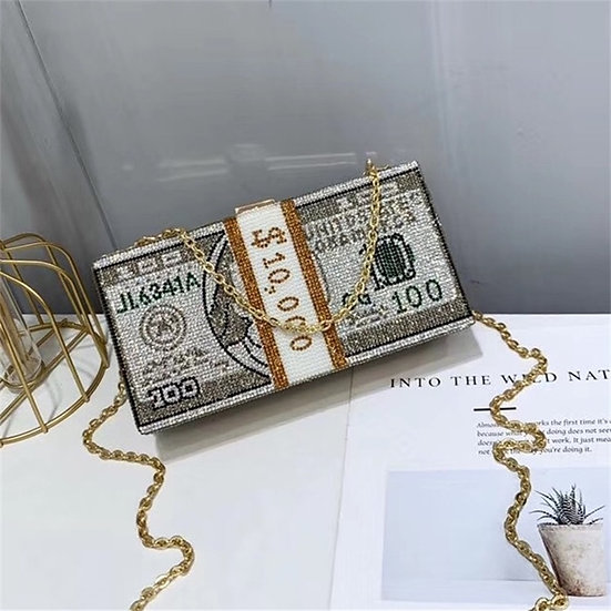 New Crystal Money USD Dollar bag