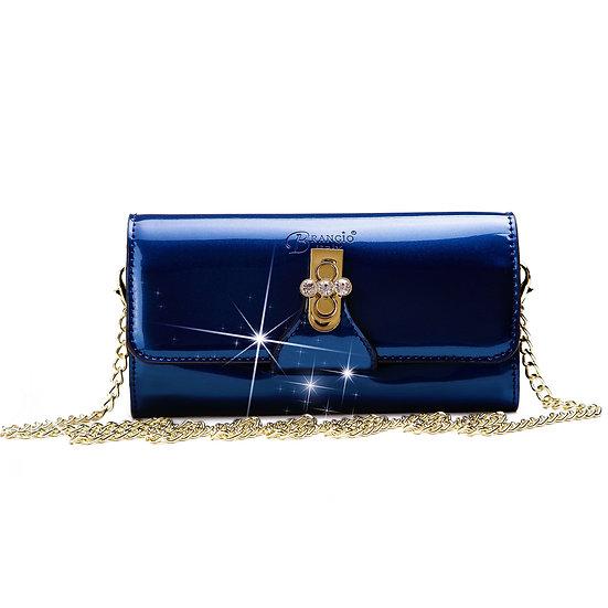 Tri-Star Evening Bridal Clutch Crossbody Bag With Chain Strap
