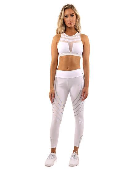 StylezbyFuse Set - Leggings & Sports Bra - White