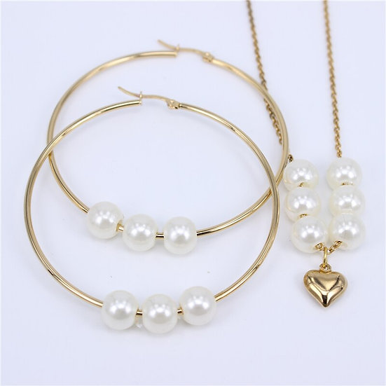Stainless Steel Beads Jewelry set